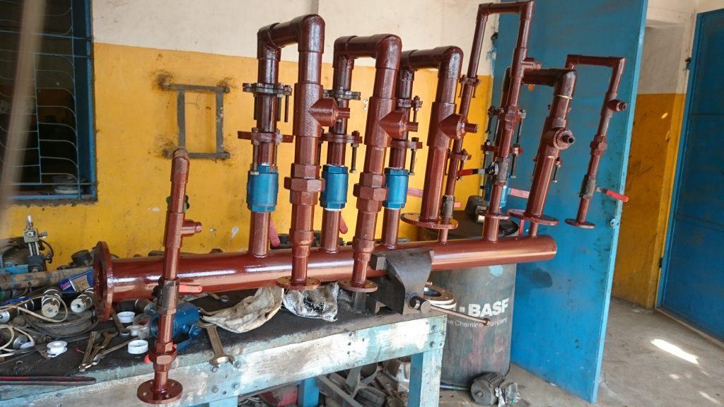 heat exchanger water line